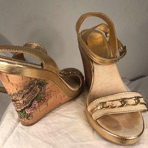 Coach Ellette Wedge Sandals, Size 7